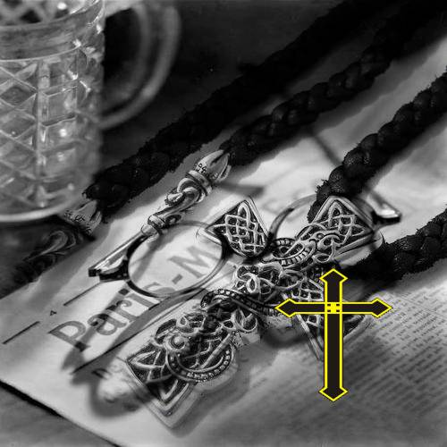 Chrome Hearts Pendant Filigree Cross S shop for handbags online