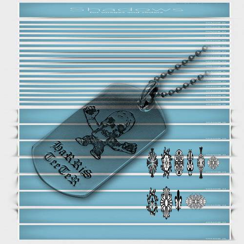 Chrome Hearts ID Bracelet Floral Heart Dagger blue handbags