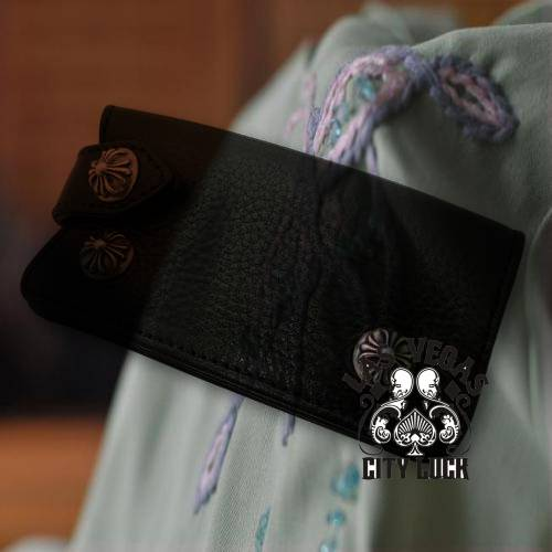 Chrome Hearts  Earring  2 CH Plus Stud leather shoulder bag