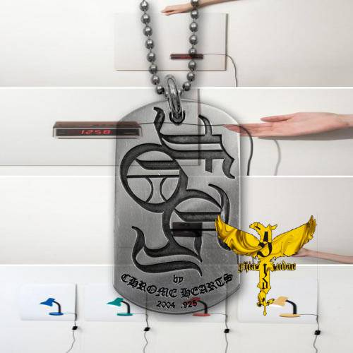 Chrome Hearts Key Ring 3 Trinkets 925 Silver coach leatherware