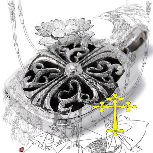 Chrome Hearts Bracelet Floral Cross 925 Silver outlet shoes